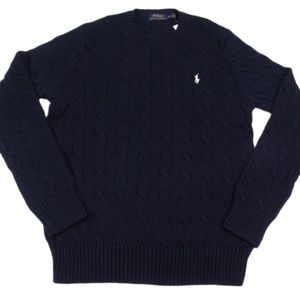 Polo Ralph Lauren Cable Sweater Cotton Crew-Neck